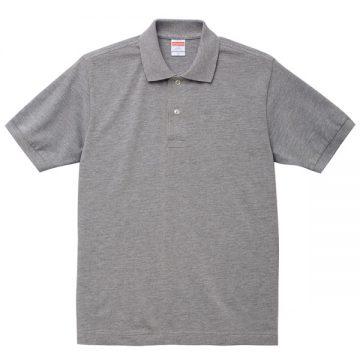 6.0オンスヘビーウェイトコットンポロシャツ006.ミックスグレー