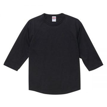 ラグラン3/4スリーブTシャツ002.ブラック