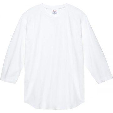 5.6オンスヘビーウエイトベースボールTシャツ001.ホワイト