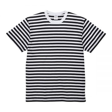 5.6オンスボーダーTシャツ2091.ブラック×ホワイト(1.2cm)