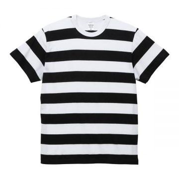 5.6オンスボーダーTシャツ2092.ブラック×ホワイト(5.0cm)