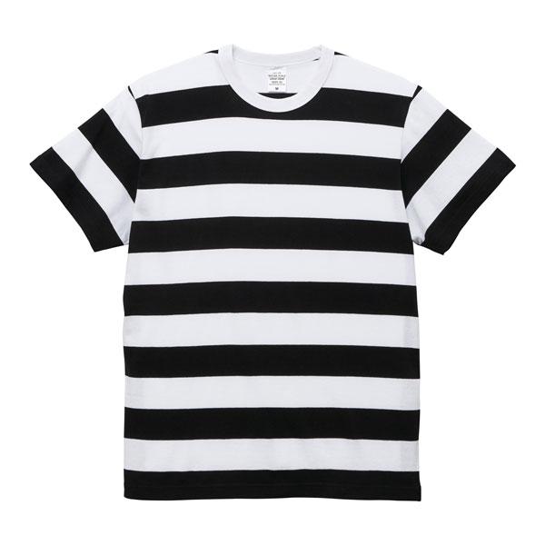 5.6オンスボーダーTシャツ56252902ブラック×ホワイト(5.0cm)