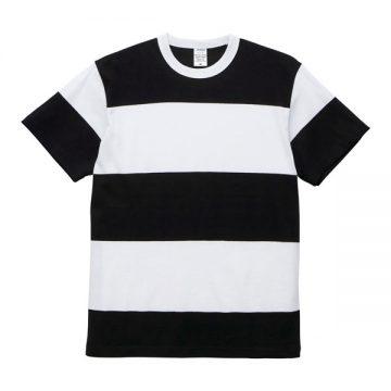 5.6オンスボーダーTシャツ2093.ブラック×ホワイト(15.0cm)