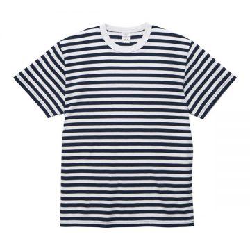 5.6オンスボーダーTシャツ4091.ネイビー×ホワイト(1.2cm)