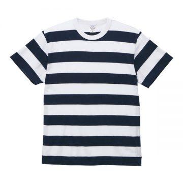 5.6オンスボーダーTシャツ4902.ネイビー×ホワイト(5.0cm)