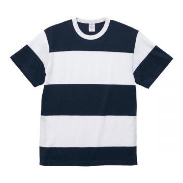 5.6オンスボーダーTシャツ4093.ネイビー×ホワイト(15.0cm)