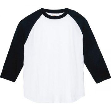 5.6オンスヘビーウエイトベースボールTシャツ705.ホワイト×ブラック