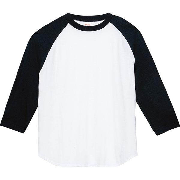 5.6オンスヘビーウエイトベースボールTシャツ107 705.ホワイト×ブラック