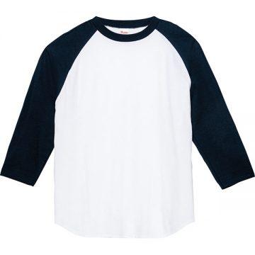 5.6オンスヘビーウエイトベースボールTシャツ731.ホワイト×ネイビー
