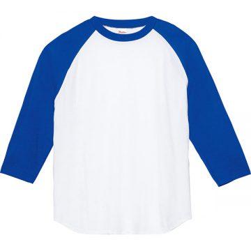 5.6オンスヘビーウエイトベースボールTシャツ732.ホワイト×ロイヤルブルー