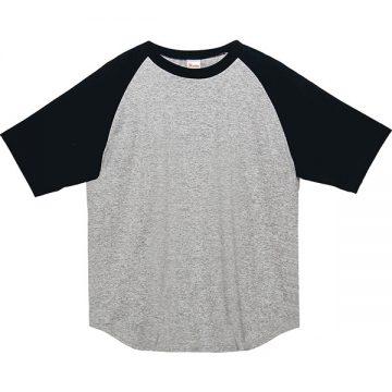 ヘビーウエイトラグランTシャツ805.杢グレー×ブラック