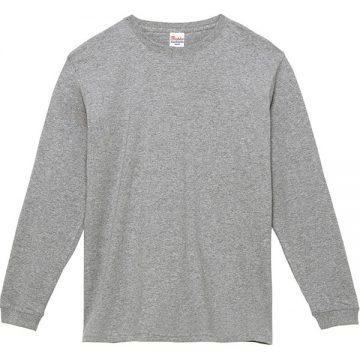 スーパーヘビー長袖Tシャツ003.杢グレー
