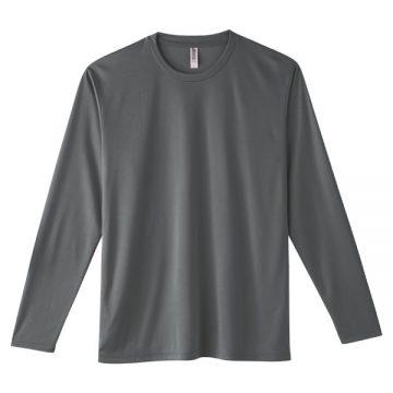 インターロックドライ長袖Tシャツ187.ダークグレー