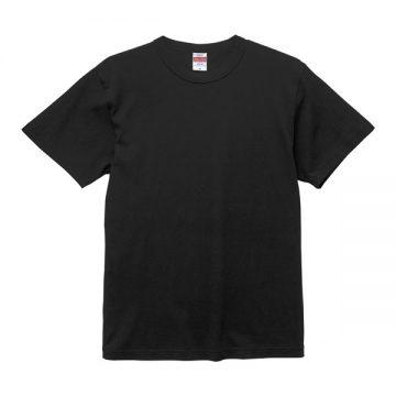 6.0オンス オープンエンド バインダーネックTシャツ002.ブラック