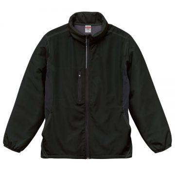 マイクロリップストップフードインジャケット(裏フリース)002.ブラック
