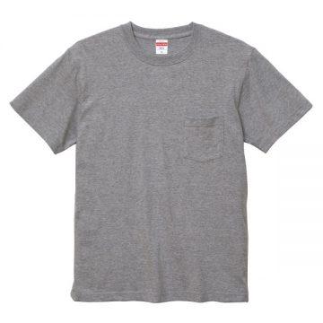 ハイクオリティTシャツ(ポケット付)006.ミックスグレー