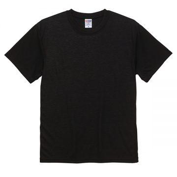 5.6オンスドライコットンタッチTシャツ(ノンブリード)002.ブラック