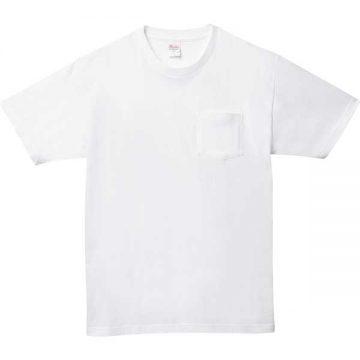 5.6オンスヘビーウェイトポケットTシャツ001.ホワイト
