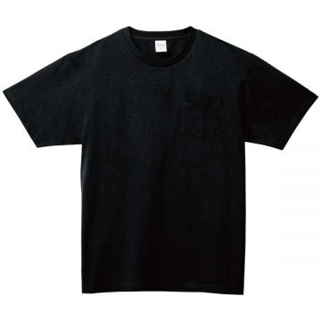 5.6オンスヘビーウェイトポケットTシャツ005.ブラック
