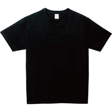 5.6オンスヘビーウェイトVネックTシャツ005.ブラック