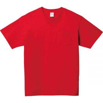 5.6オンスヘビーウェイトポケットTシャツ010.レッド