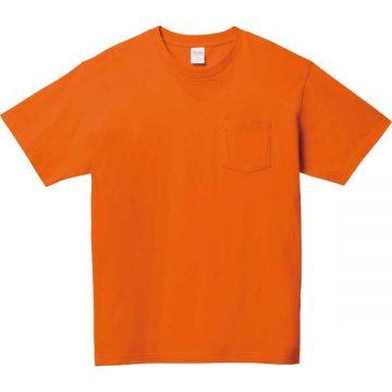 5.6オンスヘビーウェイトポケットTシャツ015.オレンジ