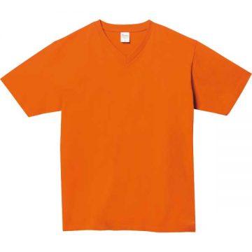 5.6オンスヘビーウェイトVネックTシャツ015.オレンジ