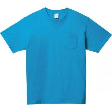 5.6オンスヘビーウェイトポケットTシャツ034.ターコイズ
