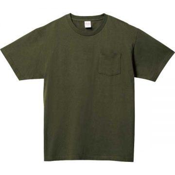 5.6オンスヘビーウェイトポケットTシャツ037.アーミーグリーン