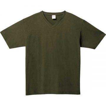 5.6オンスヘビーウェイトVネックTシャツ037.アーミーグリーン