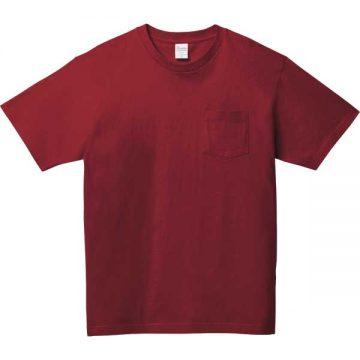 5.6オンスヘビーウェイトポケットTシャツ112.バーガンディ