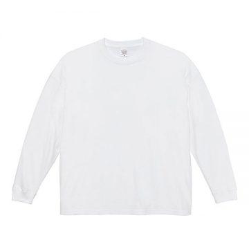 5.6オンスビッグシルエットロングスリーブTシャツ001.ホワイト