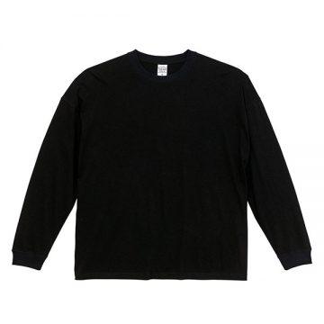 5.6オンスビッグシルエットロングスリーブTシャツ002.ブラック